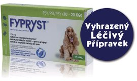 Antiparazitika Fypryst Spot-On Dog M do 20kg,1x1.34ml