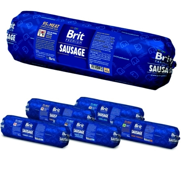 Brit Sausage with Turkey&Rice 800g