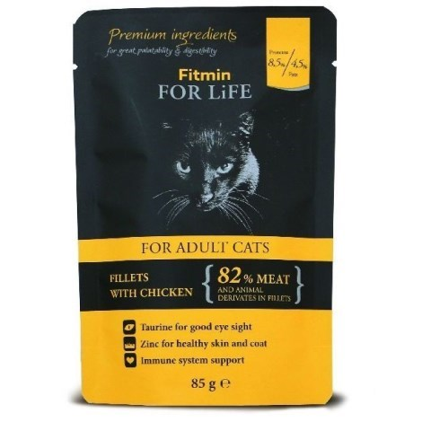 Kapsička kočka Fitmin For Life Adult chicken 85g