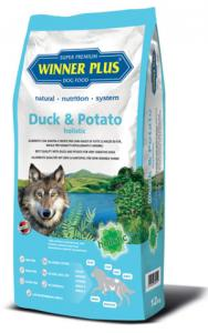 Winner Plus Duck & Potato holistic 12 kg + 3x100g PERRITO pamlsek ZDARMA